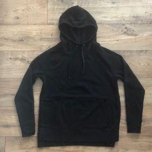 Black plush hoodie